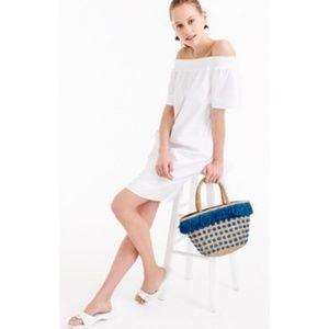 NWT J. Crew White Cotton Off the Shoulder Dress 16